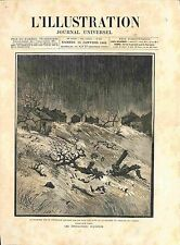 Algeria flood dam rupture of the Habr mohammadia mascara engraving 1882