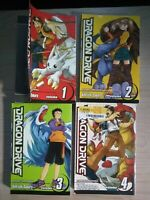 Dragon Drive 1-4, Lot of 4 Shonen Manga, English, All Ages, Ken-ichi Sakura