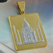 Muslem mosque Pendant For Womens/Mens 9K Gold Filled Pendant Necklace