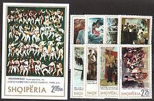 1975 Albania. Albanian  Stamps. Art Galery Set + Block. . MNH.
