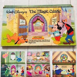 Disney Vintage Book Mickey Magic Castle 1970s Children's Layered Very Rare