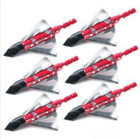 10Pk 100grain 3-blade Broadhead Archery Hunting for Compound Bow Crossbow