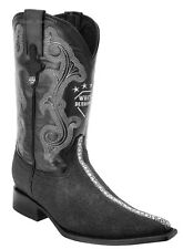 White Diamonds Men's Stingray Rowstone Print Cowboy Boots 3X Pointy Toe Handmade