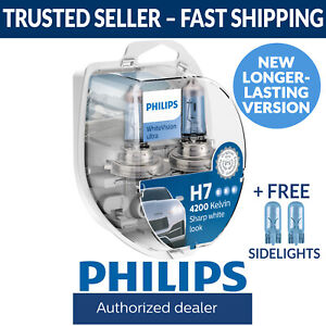 Philips WhiteVision Ultra White Vision Car Headlight Globes H7 (Twin Pack)