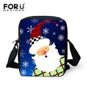 Christmas Printed Women Handbag Shoulder Bag Sling Cross Body Messenger Purse