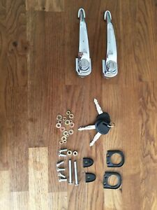 Porsche 356 Door Handle Kit with Locks Keys Seals Fixings for Replica Vehicles