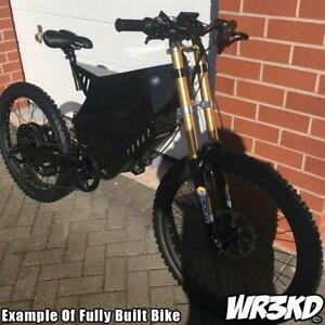 Electric E Bike Frame Kit Steel (Pick Colour, Forks, Shock) 170mm Dropout Bomber