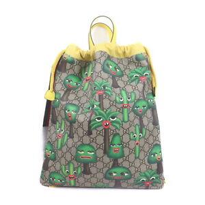 Gucci Back Pack  Light Brown PVC 2200843