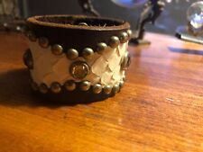 & White Snakeskin Cuff Bracelet Htc Hollywood Trading Brown Leather