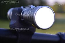 CREE LED Alu-Bicicletta Lampade Illuminazione Set + Li-Ion batteria + caricabatteria ultra chiaro