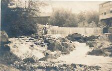 THETFORD CENTER VT – Falls at Thetford Center Real Photo Postcard rppc - 1921