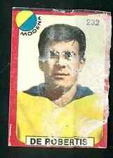 Figurina Calciatori Lampo 1963-64! n.232-234 De Robertis/Longoni Modena!!