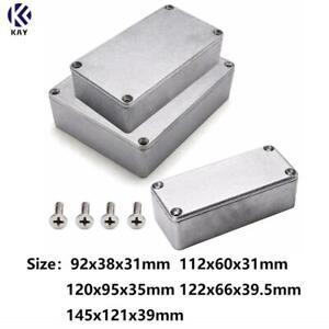 Effect Aluminum Box Metal Electric Case Instrument Silver Enclosure Project Box