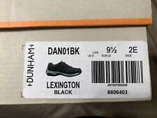Dunham Mens Lexington Black Hiking Shoes Size 9.5 Wide