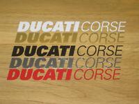 2 DUCATI CORSE Decals Stickers Motorbike Racing Motorcycle Tank Fairing Helmet