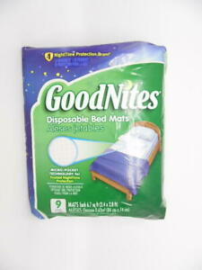 GoodNites Disposable Bed Mats, 9 Count, Micro-Pocket Protection