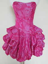 New Betsey Johnson Collection Pink Punch Rose Gathered Skirt Runway Tea Dress 10