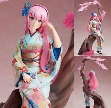New Anime Luka Ruka Flower Clothes Kimono Pink Cute Girl PVC Figure