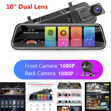 "10"" Touch Screen Car DVR Dual Lens Full HD 1080P Dash Cam Video Recorder Camera"