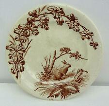 Ancienne belle assiette JS & Cie gibier thème chasse XIX : le lièvre