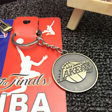 BASKETBALL NBA Lakers Logo Retro Souvenir Copper steel Keychain KeyRing