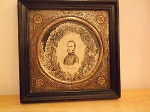 CR) Stonewall Jackson Framed Photograph on Silk WH Tucker Kayess