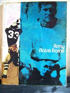 1970 Notre Dame Fighting Irish vs Army Football Program Oct 10, 1970