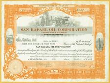 SAN RAFAEL OIL CORPORATION, SALT LAKE CITY UTAH 1923 STOCK CERTIFICATE