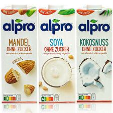 """Alpro - """"Ohne Zucker"""" 3er Probierset: Mandel, Soja und Kokosnuss Drink á 1 Liter"""