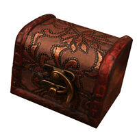 MagiDeal Vintage Antique Wooden Woman Jewelry Box Necklace Storage Box Case