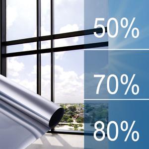 [29,67€/m²] Sonnenschutzfolie FÜR AUßEN Spiegelfolie Hitzeschutz Folie Fenster