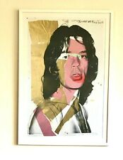 ANDY WARHOL MICK JAGGER LARGE FRAMED RARE ARTIST'S PROOF PRINT ROLLING STONES