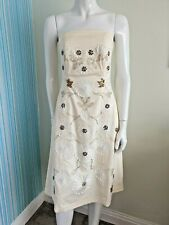 Oasis Embellished Cream Dress Size 8, Summer Ball, Cocktail Party Bridesmaid New