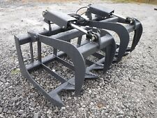"""Skid Steer Tractor Attachment 60"""" Dual Cylinder Root Grapple Bucket - $179 Ship!"""