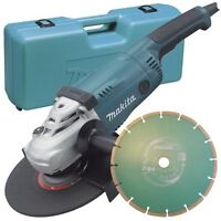 Makita GA9020KD 240v 230mm 9inch grinder + case/diamond blade 3 year warranty