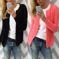 Fashion Women Cardigan Fur Jacket Outerwear Tops Warm Sweater Fluffy Coat Jumper