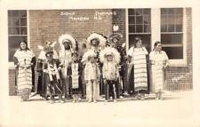 RPPC Sioux Indians, Mandan, North Dakota Native Americans 1940 Vintage Postcard