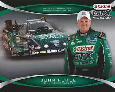 JOHN FORCE 2014 CASTROL GTX NHRA Drag Racing Nitro Funny Car HANDOUT
