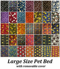 New Soft Large Dog Cat Pet Bed Cushion Pillow With Removable Washable Zip cover