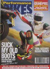 Performance Bikes magazine October 1994 featuring Kawasaki, Suzuki