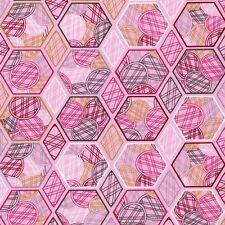 Hexagon Kreise rosa Stoff Waben Baumwolle Patchwork Free Spirit Lovelorn