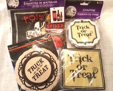 """Trick or Treat"" Halloween Party Pack Bottle Labels Coasters Doilies Napkins Lot"