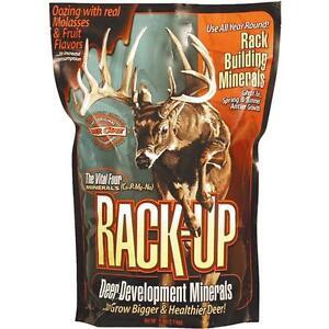 3 Pk 6# Granular Rack-Up Blended Mineral Supplement Deer Bait Attractant 46094