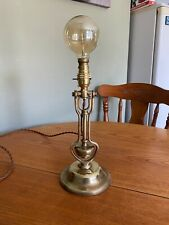 Antique Brass Royal Navy Ships Marine 'Gimbal' English Made Table Lamp