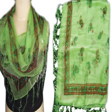 Scarf Poly Chiffon  Hijab Soft polyester Summer Perfect Square Wrap light green