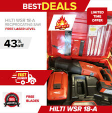 Hilti Wsr 18 A Reciprocating Saw Brand New Battery Included Fast Shipping