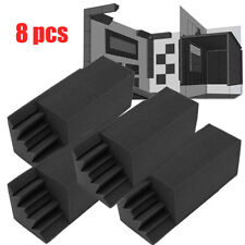 8pcs Studio for Acoustic Foam in Black Bass trap Soundproof absorption foam