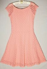 VICTORIA SECRET Womens Stretch Casual Floral Baby Pink Lace Dress Size S/P