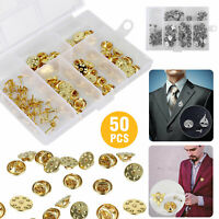 50/100PCS Butterfly Clutch Pin Back Clasps Metal Clutch Lapel For Pin Post Pins