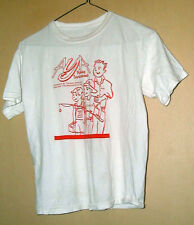 VINTAGE ANGLER & YOUNG ANGLER FISHING TOURNAMENT 100% COTTON T-SHIRT-S !